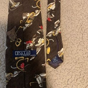 Mens Ralph Lauren Tie (Horseback riding)